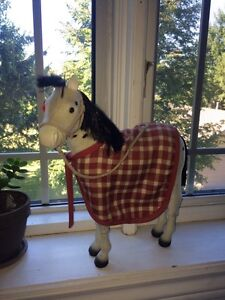 American Girl white spotted filly + blanket and rope halter