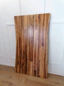 Wooden dining table top industrial style
