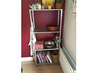 Metal IKEA shelves