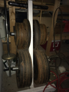 Olympic Wieghts 580lbs with Stand