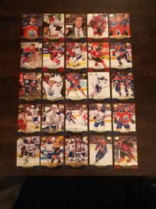 15/16 Upper Deck complete Connor McDavid rookie card collection.
