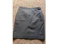 8 petite black skirt