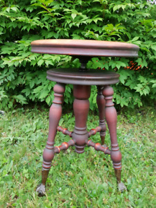 Antique  Piano Spinning Stool