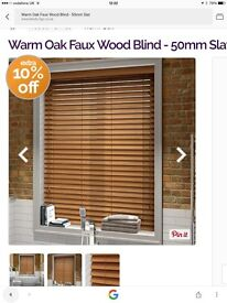 Brand new Faux wood blinds - warm oak still boxed