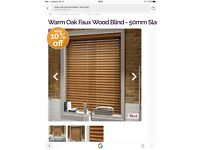 Brand new Faux wood blinds - warm oak still boxed