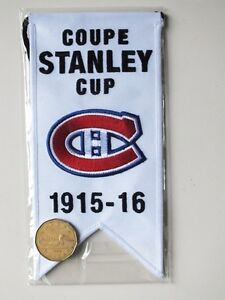 CENTENNIAL STANLEY CUP 1915-16 BANNER MONTREAL CANADIENS HABS Gatineau Ottawa / Gatineau Area image 2