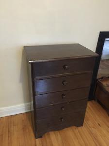 chest drawer, mirror, chairs, liebeskind bag