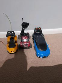 3 remote control cars
