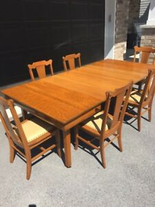 Dining room table and Buffet set
