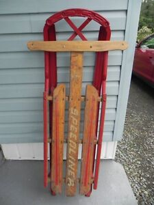 Antique Vintage 1950's Speedliner Snow Sled NICE!