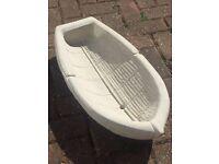 Concrete ornament boat planter. Brand new detailed