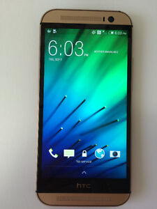 HTC One M8, Amber Gold, Unlocked, in Perfect condition