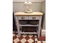 M&S Solid wood butchers block painted in F&B Eggshell