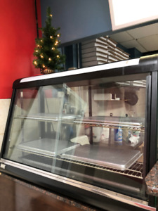 Commercial Dry Heated Showcase Display Hot Food Snack Pizza Warm