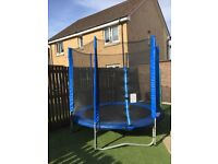 8ft trampoline with new safety net and padding