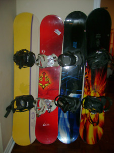 snowboard with bindings for men and women