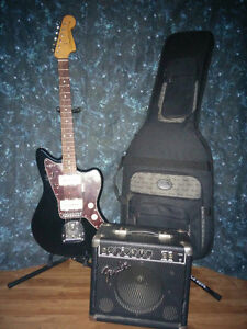 FENDER JAZZMASTER CLASSIC PLAYER!!! WITH FENDER AMP AND CASE!!!