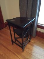 Antique corner telephone table and chair REDUCED!