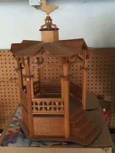 Beautiful Hand Made Wooden Gazebo for dolls!!
