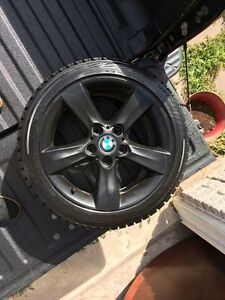 BMW 17 inch rim w. Bridgestone Blizzak winter tires