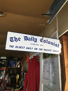 King Cole coffee can 5 pounds  others also  Daily Colonist sign