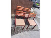 SET OF 4 DINING CHAIRS SHABBY CHIC PROJECT * FREE DELIVERY AVAILABLE *