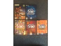 The Sims Original PC game with 4 expansion packs