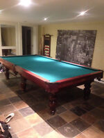 Perfect condition official size pool table