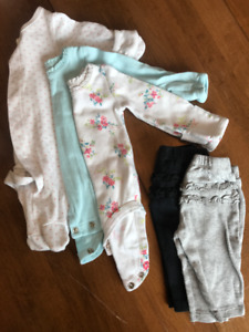 Newborn Girl Baby Clothes Lot