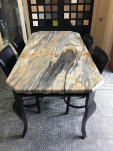 Marble & Metal Dining Table