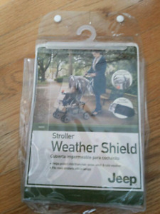 Jeep weather shield, fits all kinds of stroller