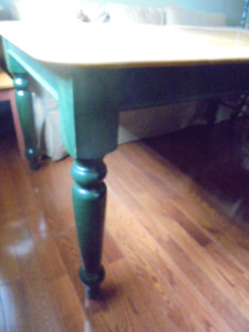 Solid maple table with four chairs