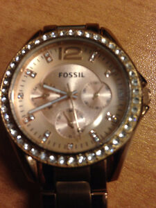 Womens Fossil Gold Watch