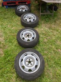 "VW Transporter 2018 T6 Genuine GP Steel Wheels 17"" Inc Original Centre"