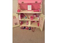 ELC dolls house with furniture