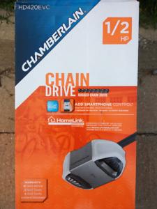 New Chamberlain 1/2 HP Garage Door Opener kit - Chain Drive