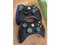 Two official Xbox 360 Controllers Fully Working