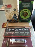 BBQ lot - wood chips - 2 bags, injector, skewers & meat markers