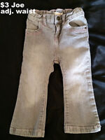 Girls Size 2T Jeans & Pants - 17 Pairs For $20