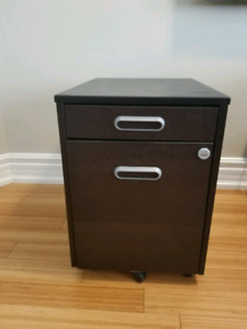 Drawer unit with drop file storage - Dark Brown / IKEA
