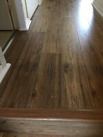 Laminate and tile floor installation! End of Summer Special!