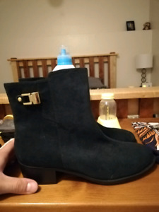 Women's blue suade boots - New!