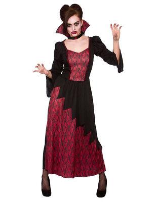 Vicious Vampire UK Size 10-28 Ladies Fancy Dress Halloween Vampiress Costume New - Halloween Vampire Costume Uk
