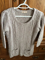 Pink Rose knitted sweater Size Junior L
