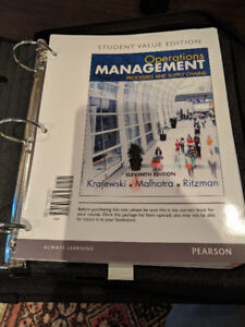 OPERATIONS MANAGEMENT: PROCESSES & SUPPLY CHAINS LOOSE LEAF ED.