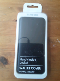Samsung Galaxy A6 wallet cover case new unused