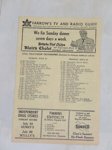 Farrow's TV and Radio Guide from July, 1967