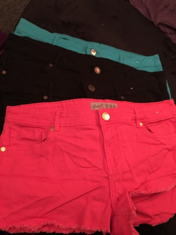 4 pairs of shorts by denim co Size 16 for sale
