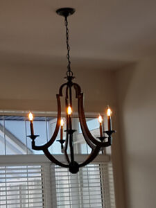 AMAZING DEAL FOR ELECTRICIAN - NEW CHANDELIER WORTH $1000