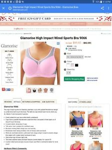 GLAMORISE 40G HIGH IMPACT WIRED SPORTS BRA by HER ROOM $40 OBO